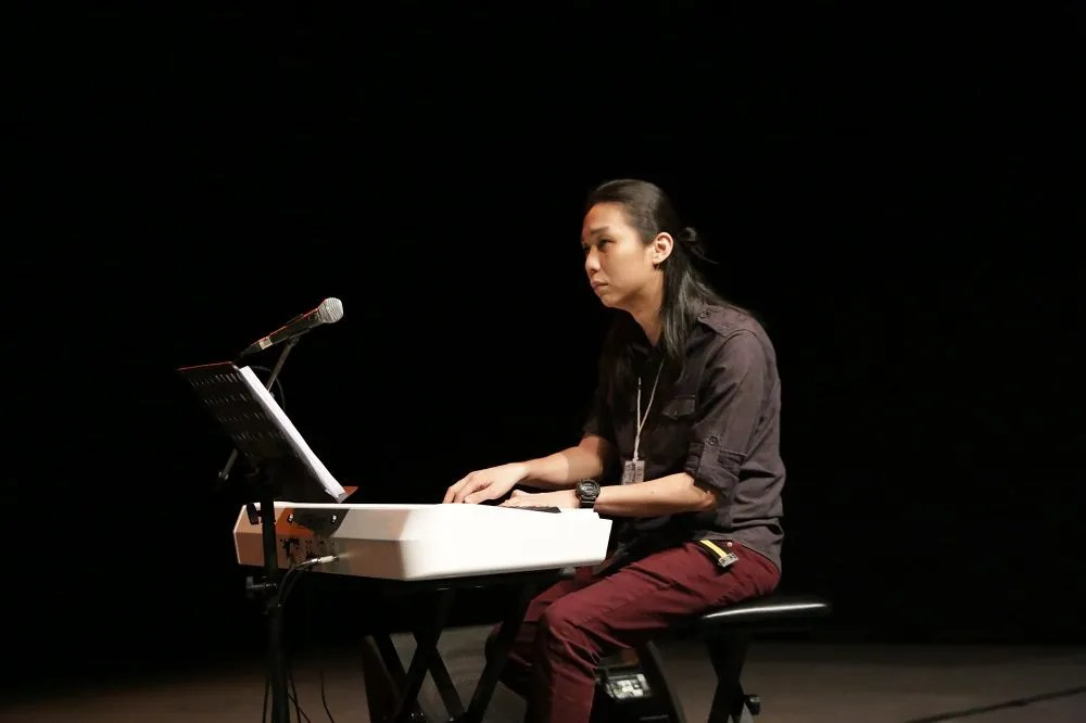 Malaysian jazz pianist Cheah Wei Li was in full praises for Samantha's talent. Image credit: The Kuala Lumpur Performing Arts Centre