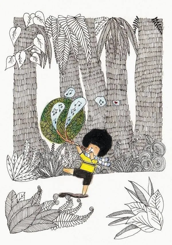 Check out Ikuwashi 衣谷化十's art project, a story about a cute flute playing bear with an afro wig :D