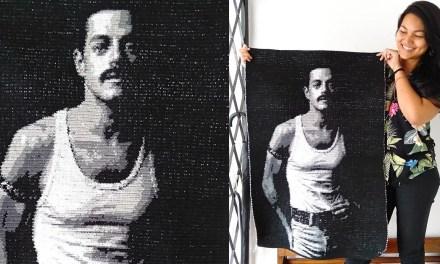 Malaysian Queen Fan Creates A Lifelike Crochet Tapestry Of Rami Malek's Freddie Mercury. It's Perfect.