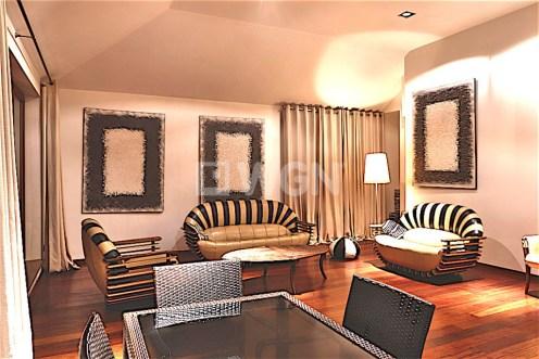 na zdjęciu living room w apartamencie do wynajmu w Szczecinie