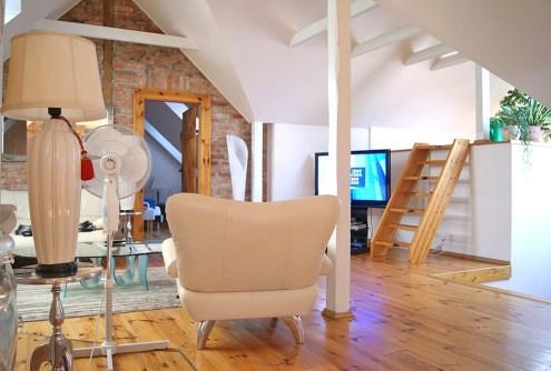 na zdjęciu salon w luksusowym apartamencie do sprzedaży w Gorzowie Wielkopolskim