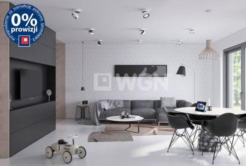 na zdjęciu salon w apartamencie na sprzedaż w Bolesławcu