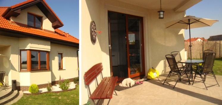 na zdjęciu widok od strony ogrodu na willę w Szczecinie na wynajem