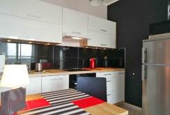 zdjęcie przedstawia aneks kuchenny w apartamencie na wynajem w Katowicach