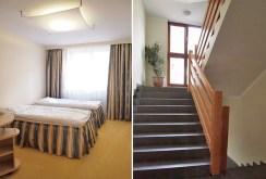 po praawej klatka schodowa, po lewej sypialnia w apartamencie do wynajmu w Szczecinie