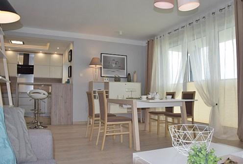 widok na luksusowe wnętrze apartamentu do wynajęcia w okolicach Słupska
