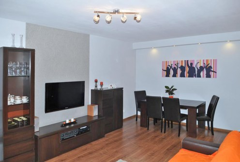 widok na luksusowy saloon w apartamencie do sprzedaży w Szczecinie