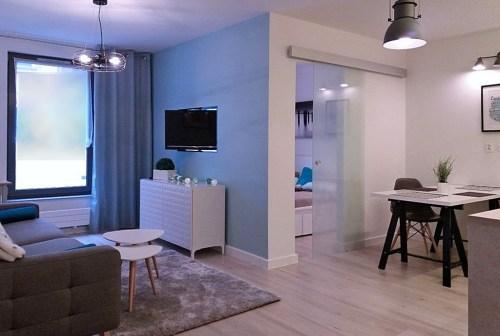 na zdjęciu wnętrze ekskluzywnego apartamentu do wynajmu w Szczecinie