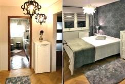 na zdjęciu fragment sypialni oraz przedpokoju w apartamencie na sprzedaż w Warszawie