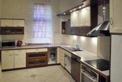 zdjęcie przedstawia komfortowo urządzoną kuchnię w apartamencie w Szczzecinie na sprzedaż