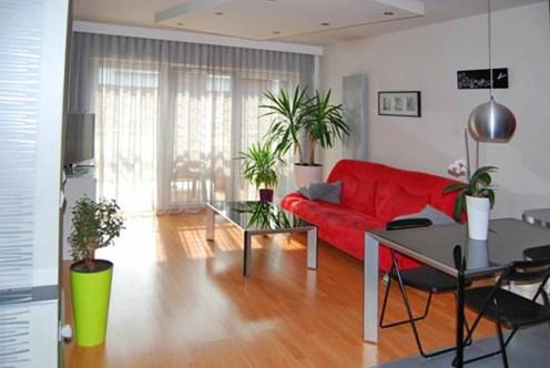 na zdjęciu salon w luksusowym apartamencie do sprzedaży w Katowicach