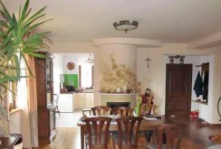 zdjęcie prezentuje salon z kominkiem w ekskluzywnej willi do sprzedaży w Lublinie