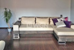 na zdjęciu sofa w salonie luksusowego apartamentu w Szczecinie na wynajem