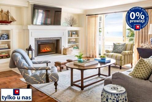 zdjęcie prezentuje luksusowy salon w ekskluzywnym apartamencie do sprzedaży nad morzem