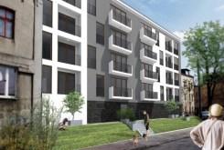 rzut z ulicy na osiedle oraz budynek w Sosnowcu, w którym mieści się luksusowy apartament na sprzedaż