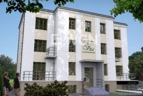 widok od frontu na luksusowy apartamentowiec w Inowrocławiu, w którym znajduje się ekskluzywny apartament do sprzedaży
