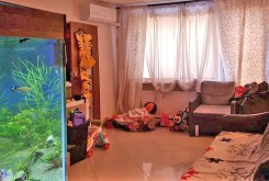widok na jeden z luksusowych pomieszczeń z pięknym akwarium w apartamencie do wynajęcia w okolicach Katowic