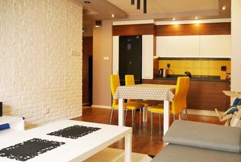 na zdjęciu luksusowy aneks kuchenny w apartamencie do sprzedaży w Białymstoku