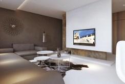 widok na nowoczesny salon w apartamencie na sprzedaż w Głogowie