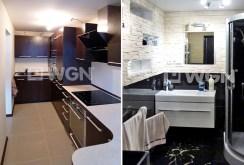 zdjęcie przedstawia kuchnię oraz łazienkę w apartamencie do sprzedaży w Katowicach