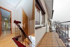 na zdjęciu przedpokó oraz taras przy apartamencie w Tarnowie do sprzedaży