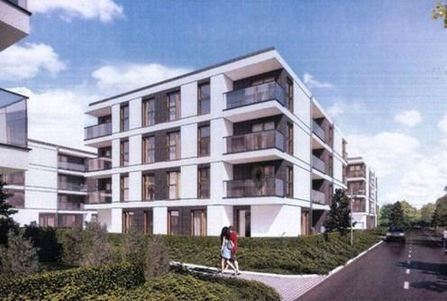 na zdjęciu apartamentowiec w okolicy Poznania, w którym znajduje się oferowany na sprzedaż luksusowy apartament