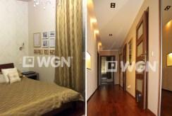 zdjęcie prezentuje przedpokój oraz fragment sypialni w apartamencie w Olsztynie na sprzedaż