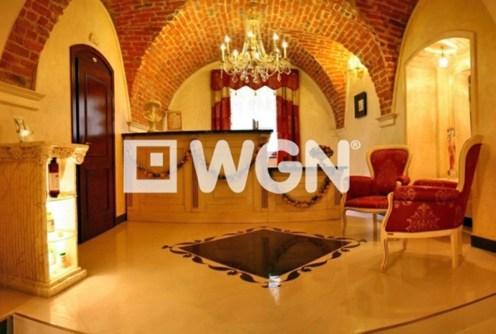 na zdjęciu ekskluzywne wnętrze luksusowego pałacu na sprzedaż w województwie śląskim