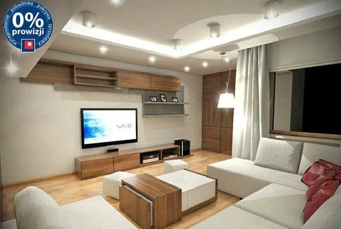 wizualizacja pokazuje przykładową aranżację salonu w luksusowym apartamencie do sprzedaży we Wrocławiu