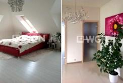 po lewej sypialnia, po prawej przedpokój w luksusowej willi w okolicach Szczecina na sprzedaż