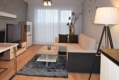 na zdjęciu luksusowy salon w ekskluzywnym apartamencie do wynajmu w Słupsku