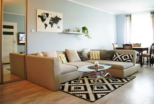 luksusowy salon w ekskluzywnym apartamencie do sprzedaży w Gorzowie Wielkopolskim