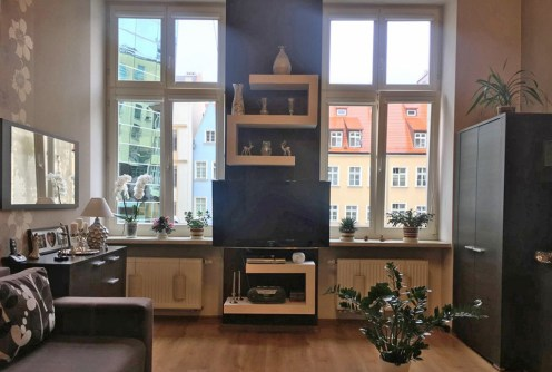 salon w ekskluzywnym apartamencie do sprzedaży we Wrocławiu