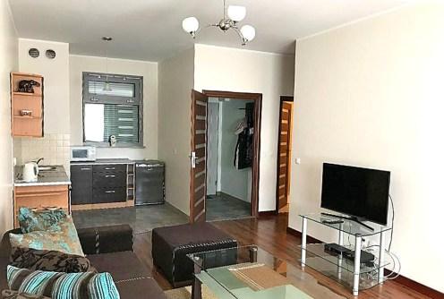 zdjęcie prezentuje salon w luksusowym apartamencie do wynajęcia w Szczecinie