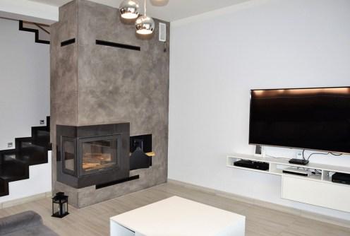 nowoczesny salon w luksuowej willi do sprzedaży w okolicach Legnicy