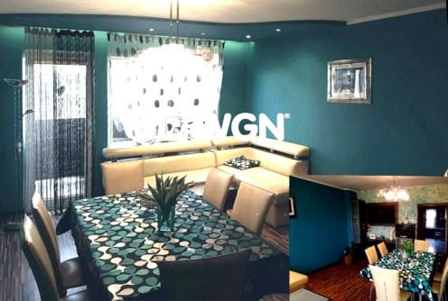 zdjęcie prezentuje salon w luksusowy apartamencie do sprzedaży w okolicach Katowic