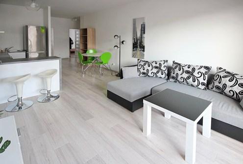 zdjęcie prezentuje luksusowy salon w ekskluzywnym apartamencie do wynajęcia w Szczecinie