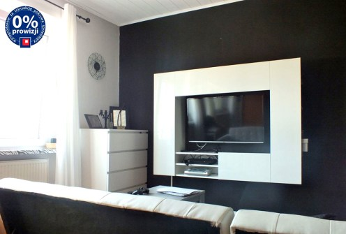 nowoczesny salon w luksusowej willi do sprzedaży w okolicach Poznania