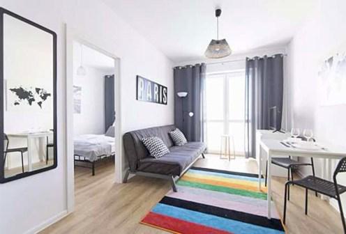 ekskluzywny salon w luksusowym apartamencie do sprzedaży w Białymstoku