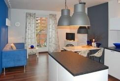 widok od strony aneksu kuchennego na luksusowy apartament do sprzedaży w Łodzi