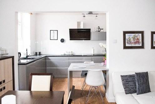 kuchnia w nowoczesnym designie w ekskluzywnym apartamencie do sprzedaży w Szczecinie