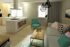 widok na salon w luksusowym apartamencie do sprzedaży w okolicy Ełku