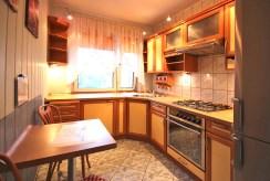umeblowana, komfortowa kuchnia w luksusowym apartamencie w Szczecinie na wynajem