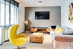 fragment komfortowego salonu w luksusowym apartamencie do wynajmu w Szczecinie