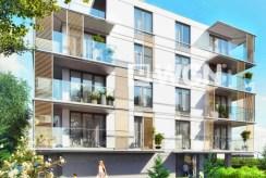 na zdjęciu ekskluzywny apartamentowiec nad morzem, w którym znajduje się oferowany na sprzedaż luksusowy apartament