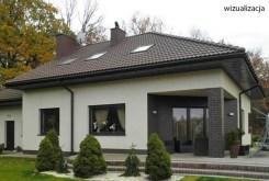 tył luksusowej willi do sprzedży w okolicach Łodzi