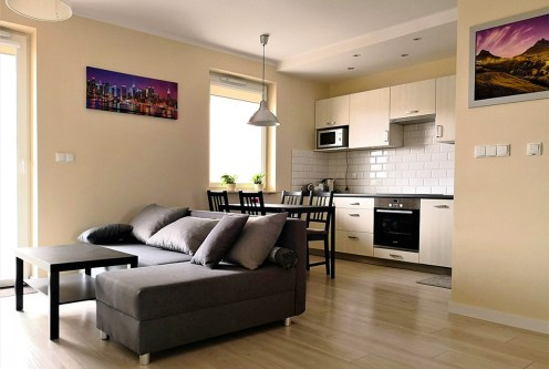 atrakcyjne wnętrze ekskluzywnego apartamentu do wynajęcia w Krakowie