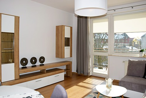 fragment ekskluzywnego salonu w luksusowym apartamencie do wynajęcia w Słupsku