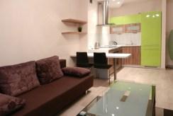widok z salonu na aneks kuchenny w luksusowym apartamencie w Katowicach na wynajem