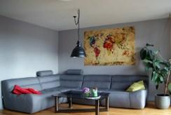 widok na salon w luksusowym apartamencie do sprzedaży na Mazurach